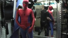 Twink Spiderman Molested By Biker